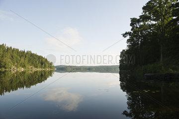 Sweden  tranquil lake scene