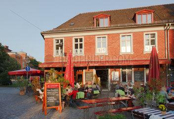 Potsdam  Deutschland  ein Strassencafe im Hollaendischen Viertel