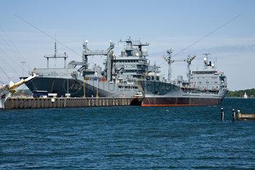 Kiel  Deutschland  Versorgungsschiff Frankfurt am Main und der Betriebsstofftanker Spessart
