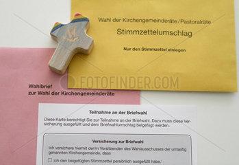 Stuttgart  Deutschland  Wahlunterlagen zur Wahl der Kirchengemeinderaete