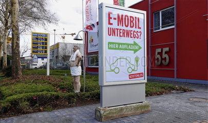 e-Ladestation an einem Sanitaerbetrieb