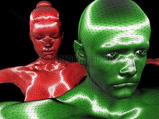 Symbolbild: Digitalisierung  Kuenstliche Intelligenz (KI  AI)  Cyberspace  Roboter  Bionik