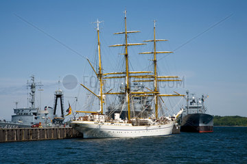Kiel  Deutschland  die Gorch Fock im Kieler Hafen