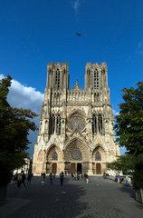 Reims  Frankreich  Kathedrale Notre-Dame von Reims im Stadtzentrum