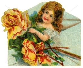 Liebesbrief  Poesiebild  1900