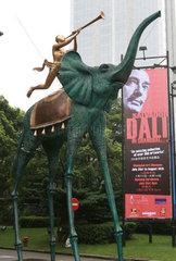 Bronzeskulptur von Dali