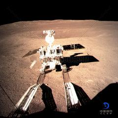 CHINA-CHANG'E-LUNAR PROBE-ROVER YUTU-2-MOON FIRST FOOTPRINT (CN)