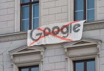 Prostest gegen die Internetfirma Google