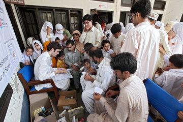 Kokarai  Pakistan  Medical Teams der Malteser versorgen