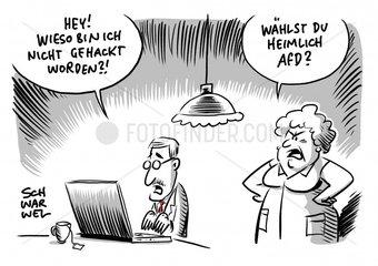 Hackerangriff - AFD ausgenommen