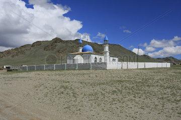 kleine Moschee in der Westliche Mongolei