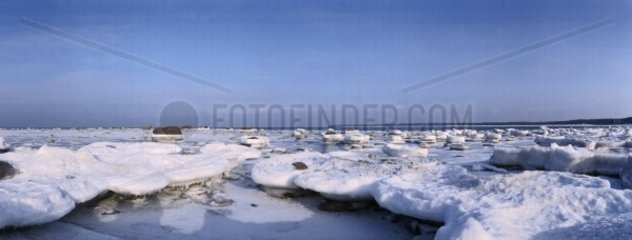 Estonia  the Baltic sea in winter time