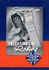 Werbung fuer Telefunken Roehren  Radioroehren  1949
