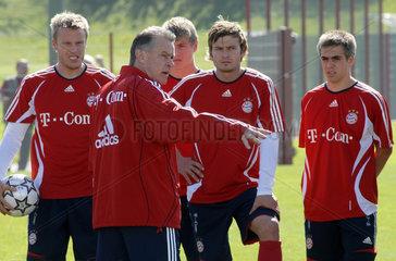 Trainer Ottmar Hitzfeld  Training FC Bayern Muenchen  2007