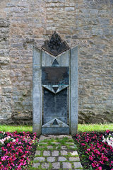 Rothenburg ob der Tauber  Deutschland  Denkmal fuer das Rintfleisch-Pogrom