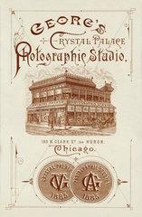 Werbung fuer ein Fotostudio in Chicago  1885