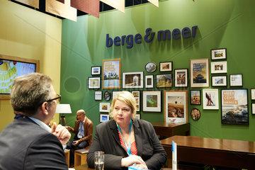 Berlin  Deutschland - Messestand der Berge & Meer Touristik GmbH bei der ITB.