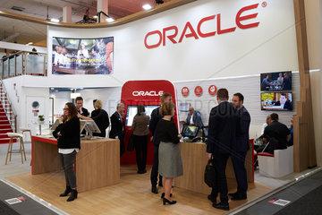 Berlin  Deutschland - Messestand von Oracle bei der ITB.