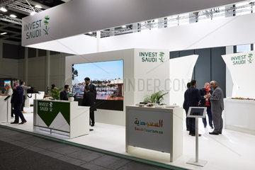 Berlin  Deutschland - Messestand von Invest Saudi bei der ITB.