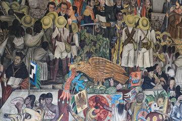 Diego Riveras Fresko Geschichte Mexikos