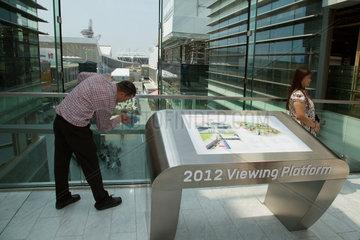 London  Grossbritannien  Blick ueber den neuen Olympiapark
