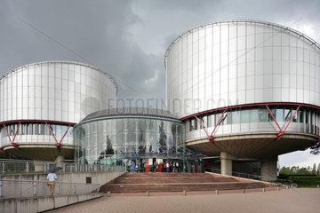 Strassburg  Frankreich  Eingang zum Europaeischen Gerichtshof fuer Menschenrechte