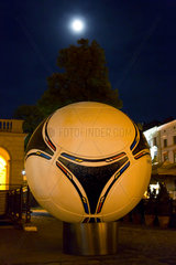 Lemberg  Ukraine  uebergrosses Modell des adidas Tango 12