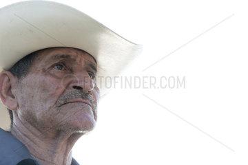 Mann mit Hut in Chiapata