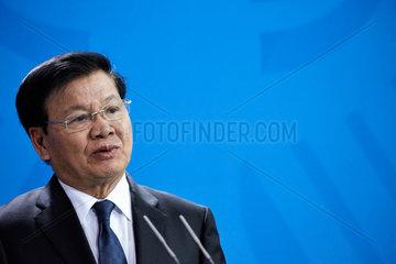 Berlin  Deutschland - Thongloun Sisoulith  der Premierminister der Demokratischen Volksrepublik Laos.