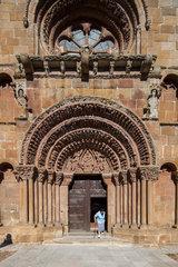 Soria  Spanien  Portal an der Westfassade der Kirche Santo Domingo