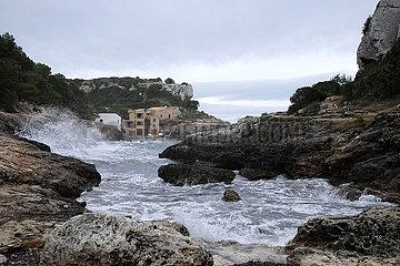 Spanien  Mallorca - Bucht Cala de sa Comuna an der Suedwestkueste