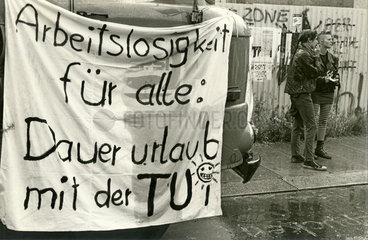 Protestplakat  Bunte Republik Neustadt  Dresden  DDR  Juni 1990