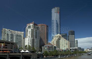 Melbourne  Australien  Hochhaeuser der Southbank