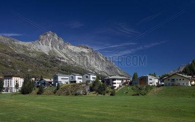 Maloja  Schweiz  Wohnhaeuser und Ferienhaeuser in Maloja