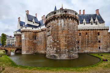 Nantes  Frankreich  das Schloss Nantes