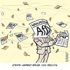 Herbst-Wahlergebnis Brise von rechts