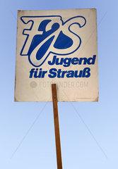 FJS Jugend fuer Strauss  Fanplakat fuer Franz Josef Strauss  1986