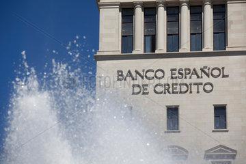 Barcelona  Spanien  Fassade der Banco Espanol de Credito