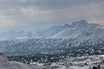 Krippenbrunn  Oesterreich  Alpenpanorama vom Krippenstein