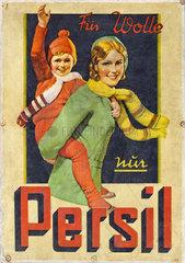 altes Persil Werbeplakat  1932