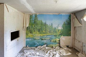 Gross Doelln  Deutschland  Landschaftsmotiv auf einer Fototapete