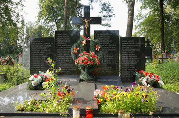 Sopockin  Weissrussland  Mahnmal erinnert an Massaker vom 15. Juni 1944