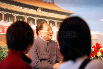 Shenzhen  China  Wachsfigur von Deng Xiaoping