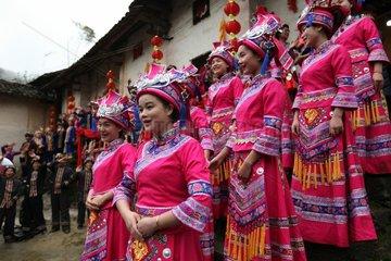 #CHINA-GUANGXI-LUOCHENG-MULAO ETHNIC GROUP-TRADITIONAL WEDDING (CN)