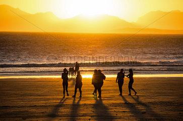 Sonnenuntergang in Strand