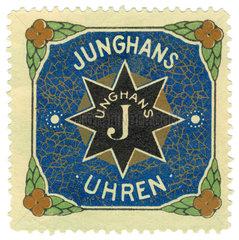 Junghans Uhren  Werbemarke  1913