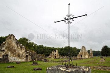 Bouconville-Vauclair  Frankreich  Ruinen der Zisterzienserabtei von Vauclair