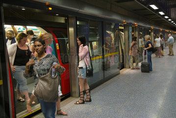 London  Grossbritannien  U-Bahn-Station North Greenwich