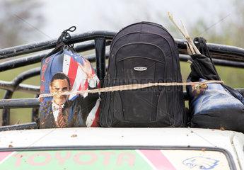 Kakuma  Kenia - Sporttasche mit dem Konterfei von Barack Obama.