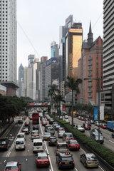 Hong Kong  China  Rushhour in der Gloucester Road